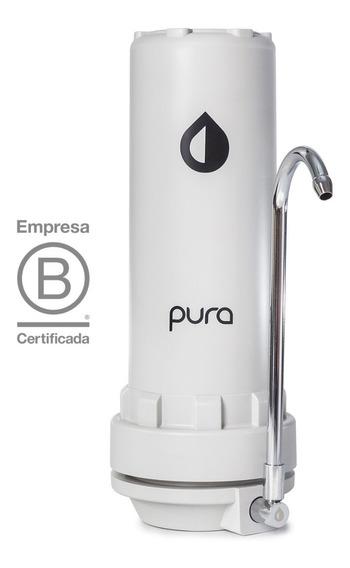 Purificador Agua Pura Filtro Sobre Mesada Cloro Sabor Olor