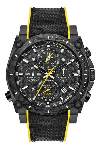Reloj Bulova Precisionist Negro Amarilla ¡entrega Inmediata!