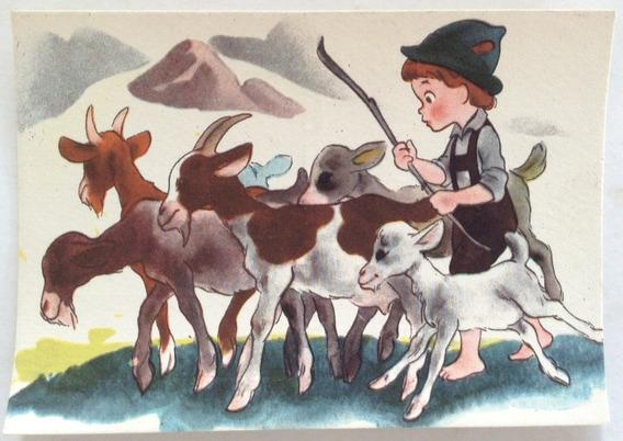 Antigua Tarjeta Postal Infantil N° 3 Codex Año 1952