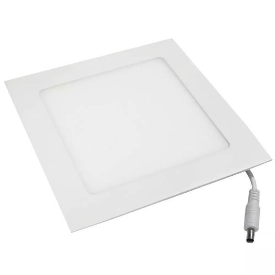 Luminária Plafon Paflon 25w Quadrado Embutir Branco Frio