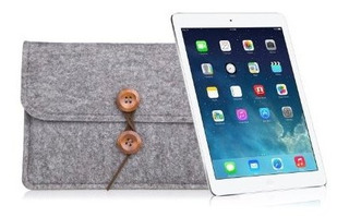 Oso Motion Para iPad Funda Premium De Fieltro De Lana Gris