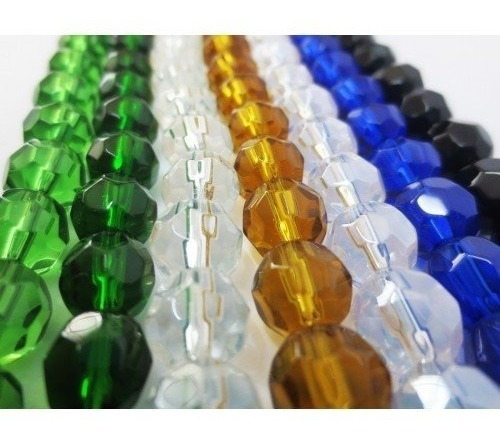 Fio De Contas De Cristal Vidro 10mm 110 Unidades