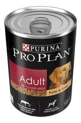 Imagen 1 de 1 de Alimento Pro Plan OptiHealth Adult para perro adulto todos los tamaños sabor pollo/arroz en lata de 368.5g