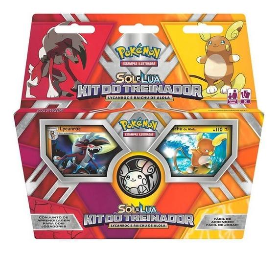 Pokémon Tcg: Kit Do Treinador - Lycanroc E Raichu De Alola