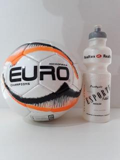 Kit Bola Campo New Euro Champions 1 Squeeze Plastico Realtex