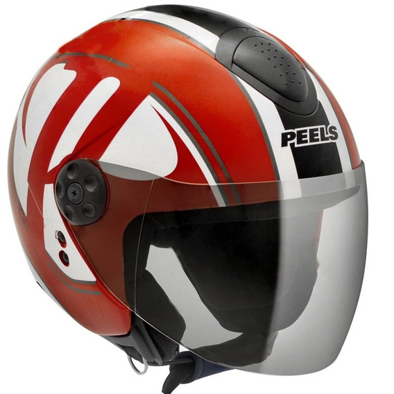 Capacete Aberto Peels Freeway Brand Vermelho Tamanho 60