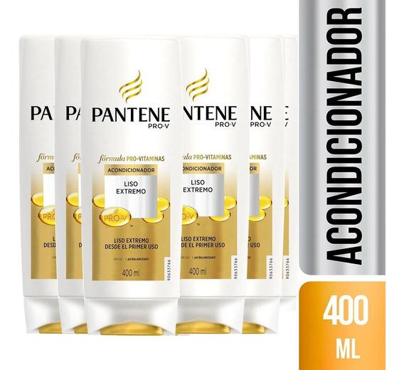 Pack De 6 Acondicionador Pantene Pro-v Liso Extremo 400 Ml