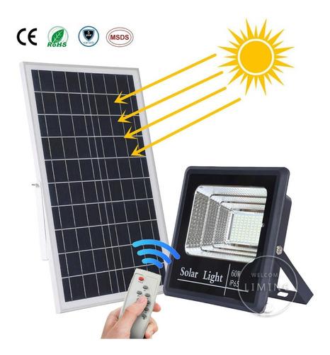 Panel Solar+reflector  100w Luz Led Lampara Foco Exteriores