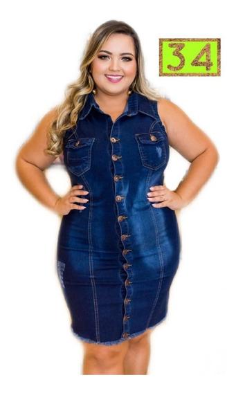 Vestido Jeans Roupas Femininas Casuais Tam Grande Mod. 34