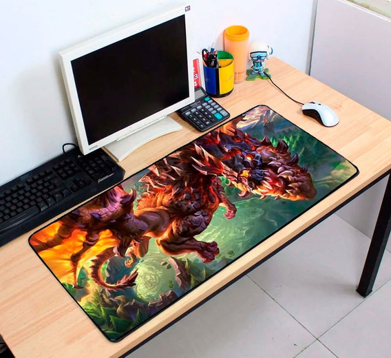 Mouse Pad 70x35 Gamer Asa Do Vulcão Grande Pronta Entrega