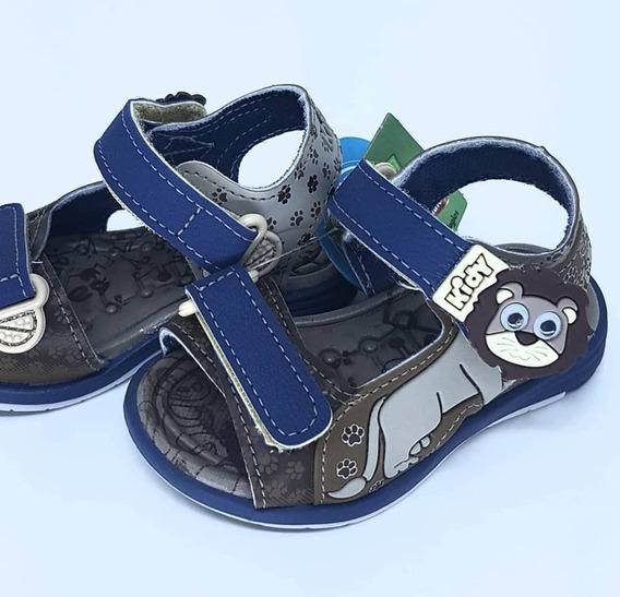 Sandalia Kidy Baby Menino Equilibrio 001-0821-2605 Velcro