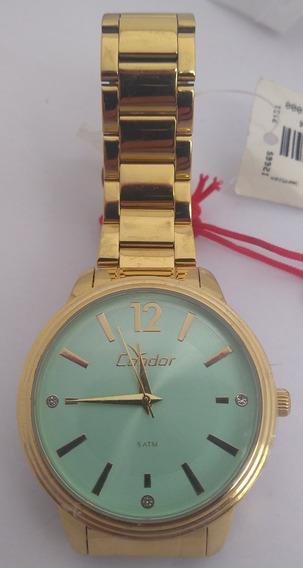 Relógio Condor Feminino Dourado Co2035kmh/4v Lindo E Barato
