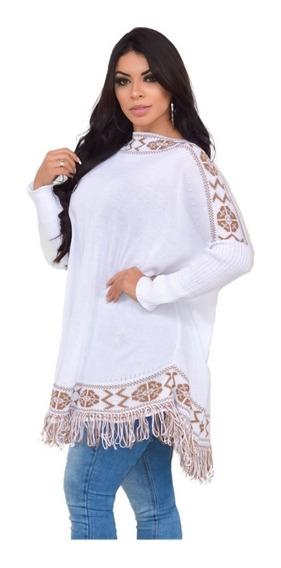 Ponche Feminino Casaco Grosso Blusa Inverno Kimono Frio Moda
