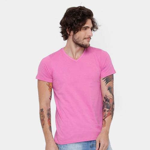 cd575b9e84 Camiseta Basica Gola V Tamanho P - Camisetas Masculino Manga Curta P ...