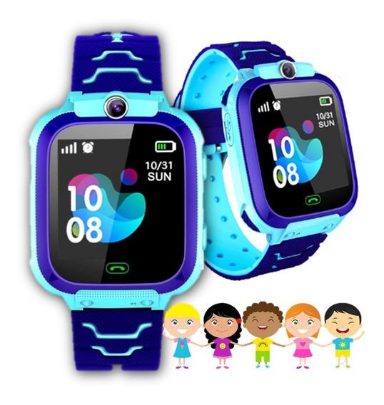 Relógio De Pulso Smart Watch Para Crianças Gps Chat Ligação Câmera Sos Prova D