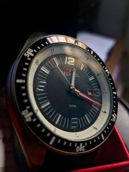 Relógio Technos Masculino Preto Analógico Silicone 2115mqr/8