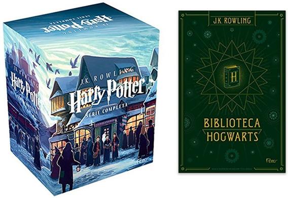 Box Coleção Harry Potter A Saga Completa + Box Hogwarts