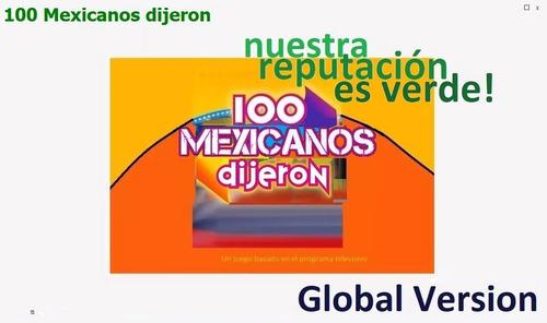 100 Mexicanos Dijeron Juego Para Pc Con Botonera App En Usd