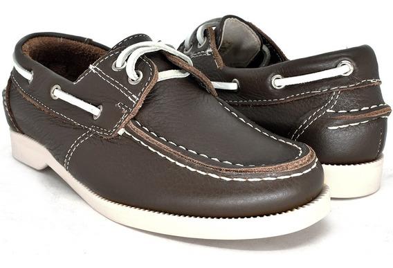 Sapato De Criança Em Couro Dockside Mocassim Menino Oferta