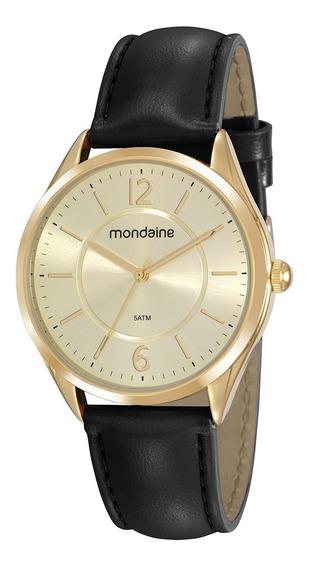 Relógio Pulseira De Couro Mondaine Original 53781lpmvdh1