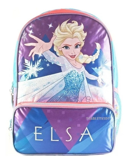 Mochila Espalda Frozen Elsa 16 Primaria Nena Disney Original