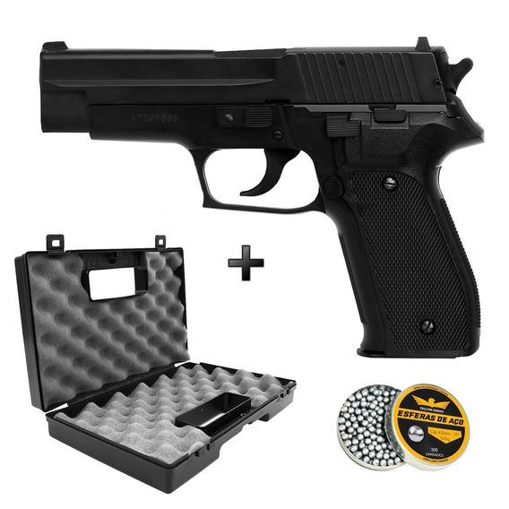 Pistola Pressão Spring Sig Sauer P226 4,5 + Maleta + Esferas