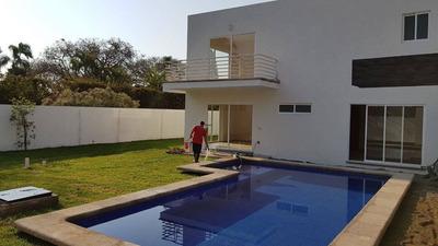 Casa Sola Nueva En Zona Dorada De Cuernavaca, 4 Hab Y Roof