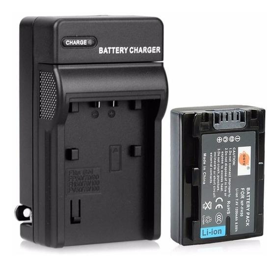 Kit Bateria Fh50 + Carregador Sony Np-fh40 Np-fh30 Np-fh60