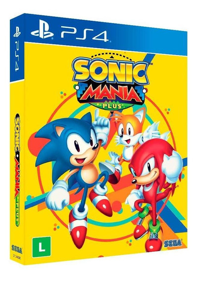 Sonic Mania Plus Ps4 Mídia Física Novo Lacrado