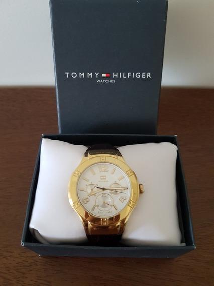 Relógio Tommy Hilfiger Feminino Couro Marrom