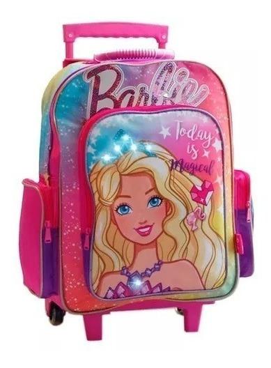 Mochila Barbie Dreamtopia 16 Pulgadas Con Carro 14790 Orig!!