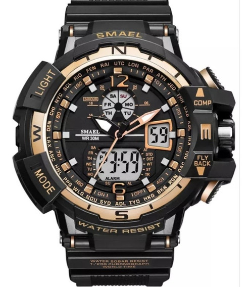 Relógio Smael Militar Analógico Digital