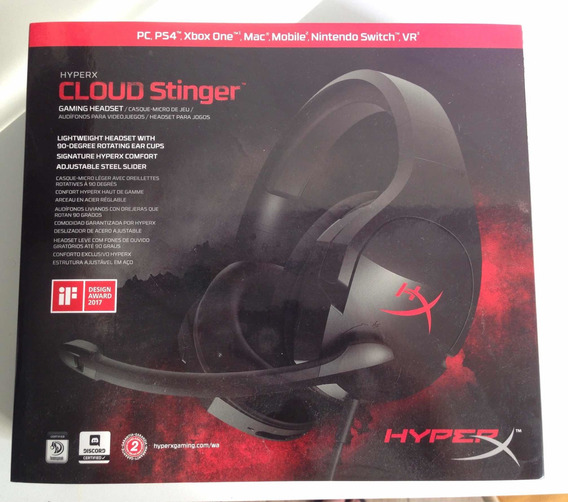 Headset Cloud Stinger (hyper X)