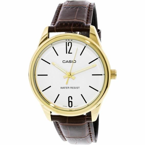 Relógio Masculino Casio Mtp-v005gl-7bud - Dourado/marrom