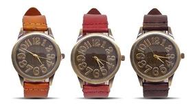 Relógio Feminino Vintage Pulseira De Couro Retro Promoção