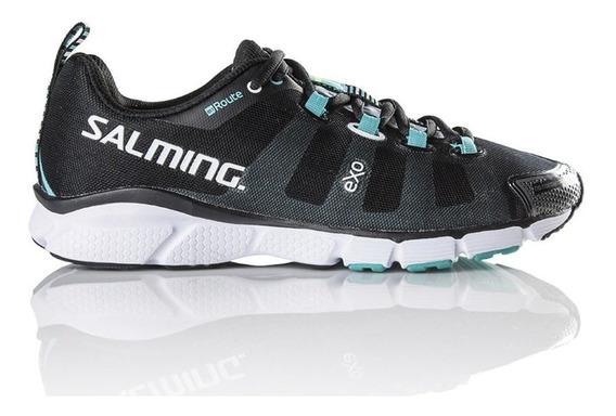 Zapatillas Salming Enroute W Negro/aqua - Corner Deportes