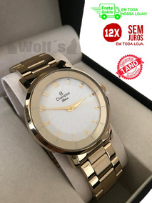 Relógio Feminino Dourado Original