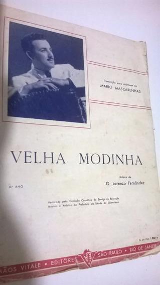 Partitura Para Acordeon Mario Mascarenhas - Velha Modinha