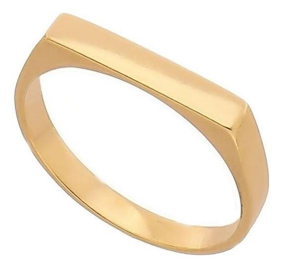 Anel De Chapinha Ouro 18 Kl 750 Forrado