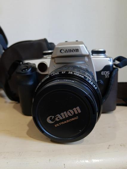 Câmera Fotográfica Canon Eos55+lent28-105mm+alça+case(usado)