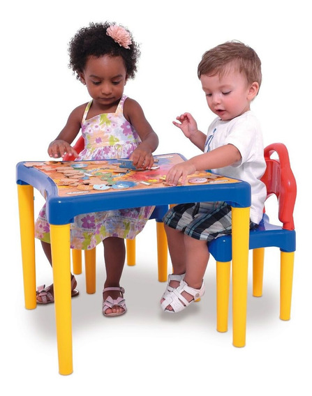 Combo Mesa Y 2 Sillas Infantil Desmontable Reforzada Taller