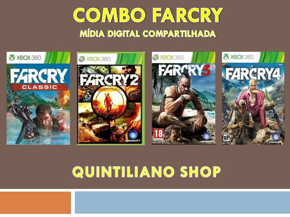 Farcry 1, 2, 3, 4 Xbox 360 Mídia Digital Compartilhada