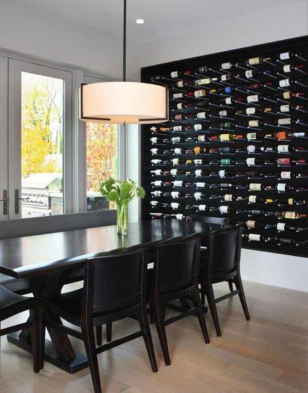 47 Garrafas De Vinho Com Rótulo Para Decoração De Paredes