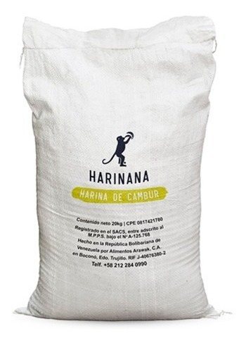 Harina De Cambur Verde Sin Gluten Harinana 5 Kg