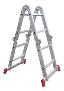 Escada Articulada Alumínio 2x4 Doméstica 8d - Botafogo