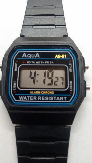 Kit 10 Relógio Aqua Médio Prova De Água