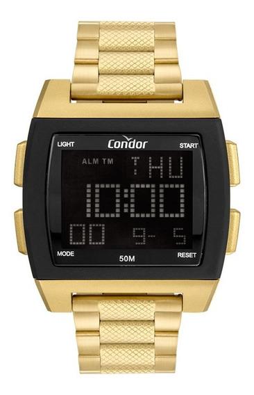 Relógio Condor Masculino Cobj2649ah/8d Dourado Preto Digital