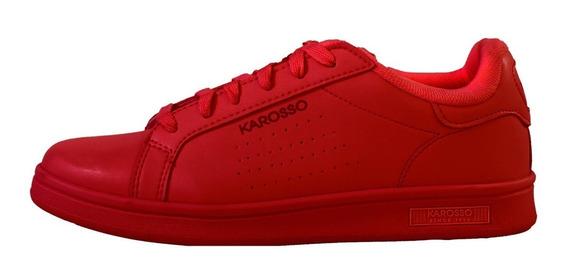 Tenis Casual Karosso Clásico Rojo 9400
