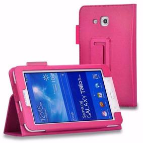 Capa Couro Samsung Galaxy Tab 3 Lite 7 T110 T111 T116 Rosa