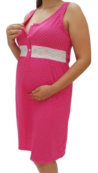 Camisola Maternidade Gestante E Amamentação - Poá 021/2189